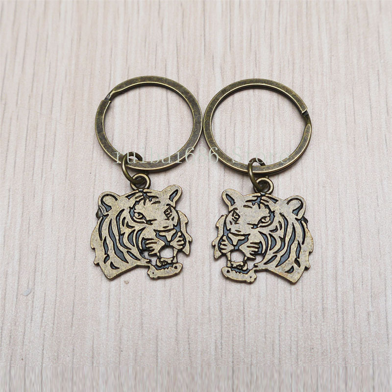 2pcstiger key ring couples keychain men women gift personalized gift