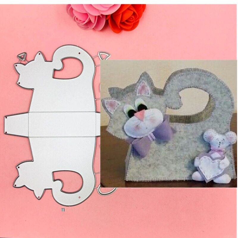 Love Cat Design Metal Cutting Dies For DIY Scrapbooking Album Paper CardsVH