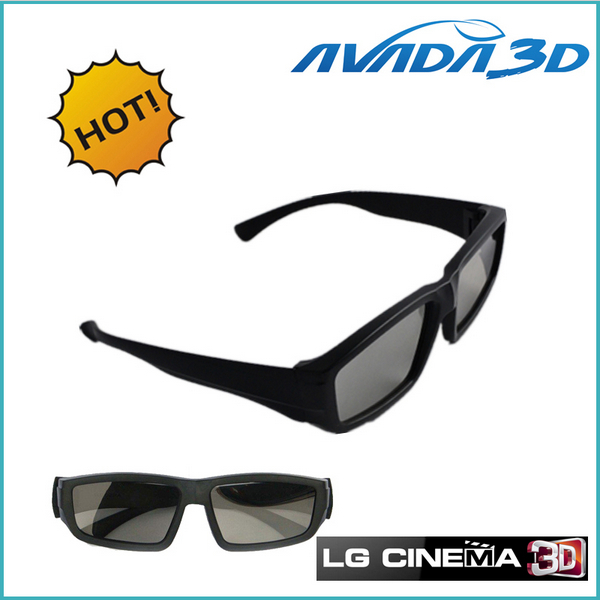 Envío libre al por mayor 10pcs / Lot Circular polarizado gafas 3D - Audio y video portátil
