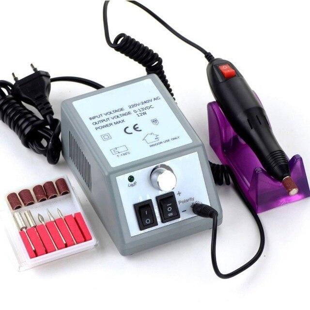 Elektryczny frez do Manicure wiertła maszyna do Manicure zestaw elektryczny wiertła do Manicure frezowanie urządzenie do Manicure