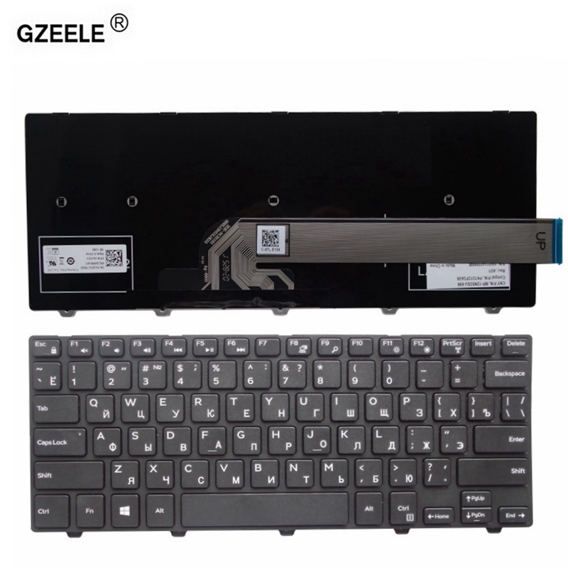 GZEELE Laptop Keyboard for <font><b>Dell</b></font> Vostro 14 <font><b>5459</b></font> RUSSIAN image