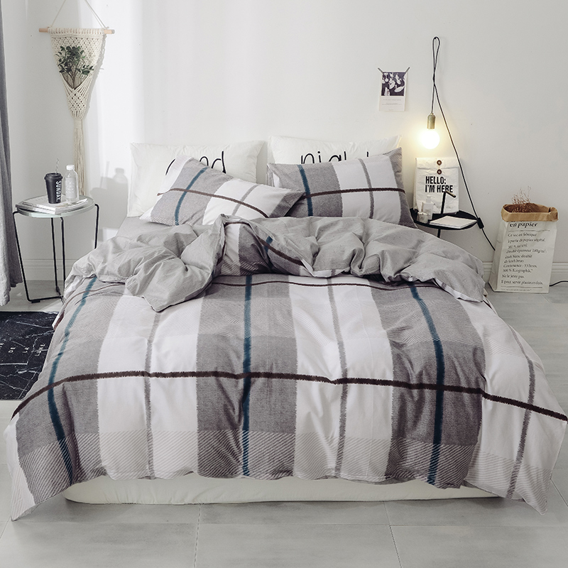 Black And White Large Plaid Pattern 3/4Pcs Bedding Sets Bed Linen Bedding Set Winter Queen Without Comforter Duvet Cover Set Black And White Large Plaid Pattern 3/4Pcs Bedding Sets Bed Linen Bedding Set Winter Queen Without Comforter Duvet Cover Set