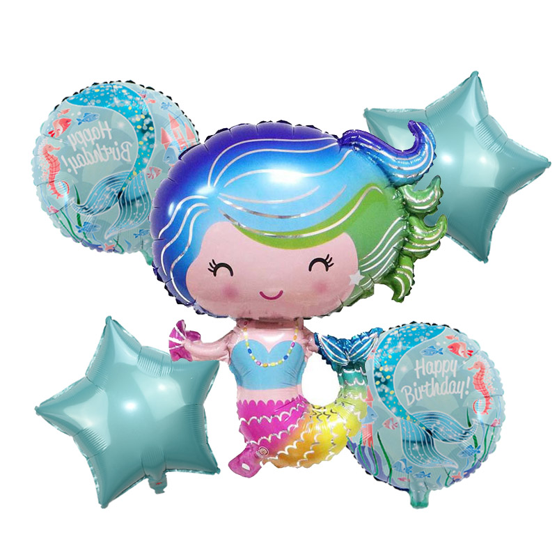 Little Mermaid Party Supplies Mermaid Balloon Banner Decoration Mermaid Birthday Party Favors Kids Birthday Parties Decorations in Party DIY Decorations from Home Garden