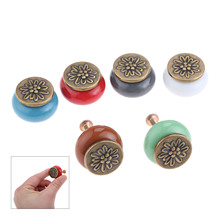 DRELD Furniture Handle Ceramic Drawer Cabinet Knob and Handle Door Cupboard Wardrobe Kitchen Pull Home Decor Furniture Hardware hot 10pcs lot ceramic handle drawer cabinet pull cabinet wardrobe handle rural style kitchen furniture handle knob home improvem