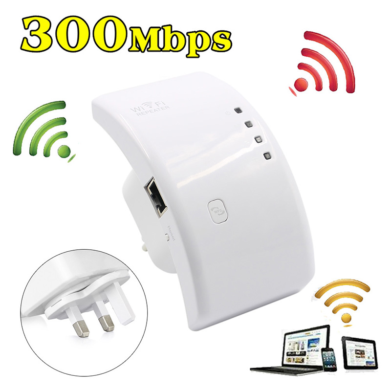 BGEKTOTH Wireless Wifi Repeater 802.11n/b/g Wi Fi Router 300Mbps 2.4 GHz Wi-fi Signal Amplifier Range Expander Signal Boosters