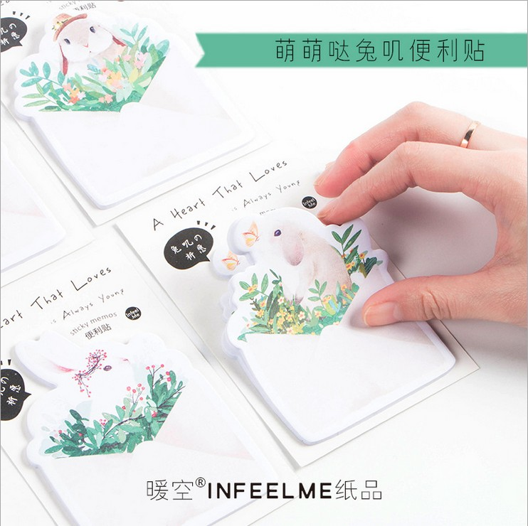 Office & School Supplies Notebooks & Writing Pads 30 Sheets/pack The Rabbit Wishes Memo Pad Sticky Notes Memo Notebook Stationery Papelaria Escolar School Supplies