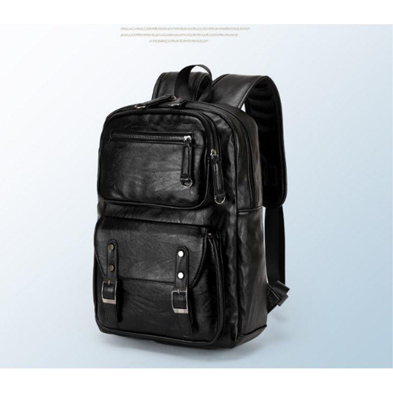 Wasserdicht laptop rucksack männer leder rucksäcke für teenager ...