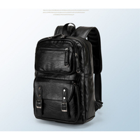 waterproof laptop backpack men leather backpacks for teenager Men Casual Daypacks mochila male Christmas gift black male bags