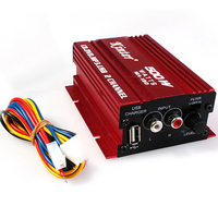 Kinter Auto Power Subwoofer Amplifier Car Audio Stereo Amplifier Hi-Fi 12V 2CH USB Mini Digital Motorcycle / Boat /MP3/MP4/CD