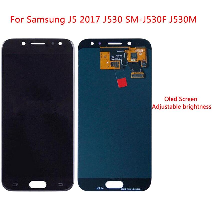 Écran LCD Pour Samsung Galaxy J5 2017 AMOLED Écran Tactile Digitizer Assemblée Remplacement Réglage de La Luminosité
