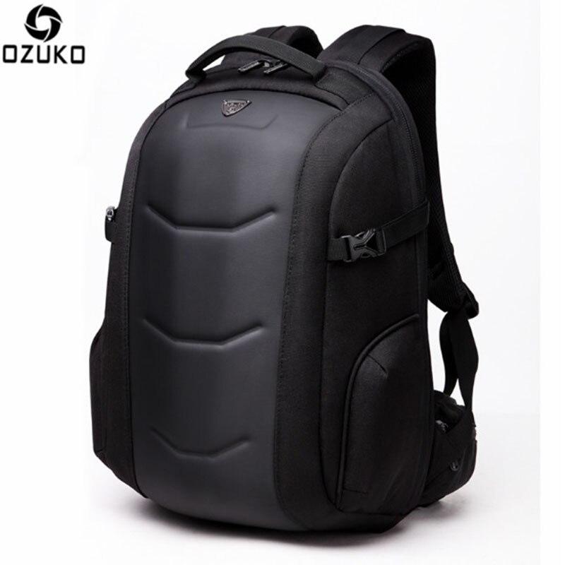 OZUKO 2017 nouveauté hommes sac à dos 15.6 pouces cahier sacs Oxford étanche Anti vol adolescents hommes étudiant Fallow sac d'école-in Sacs à dos from Baggages et sacs    2
