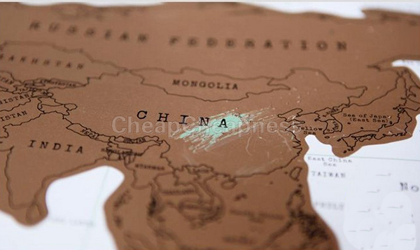 World Map Travel Scratch Off Map Personalized Poster Traveler Vacation Log National Geographic Map Of The World Map Size:82*58cm