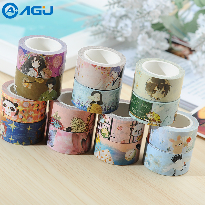 AAGU New Arrival 1PC20mm*7m Wide Cartoon Kraft Washi Tape Decorative Adhesive Masking Tape High Viscosity DIY Paper Tape домкрат kraft кт 800026
