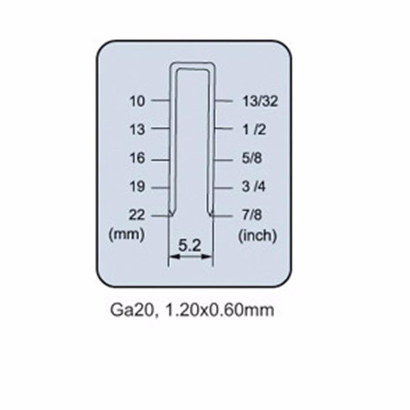 Grampeador de ar A422J-C pneumático prego nailer