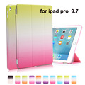 rainbow case For ipad Air 3 Gradient Leather Flip Cover For apple Pro 9.7'' Stand Wake UP Leather Flip Case Protective Shell