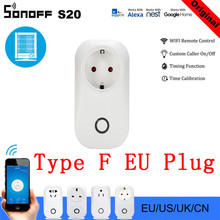 10 PCS SONOFF S20 EU Smart Plug Wifi Power Socket Timer Outlet Remote Alexa Google Home IFTTT Compatible HWC