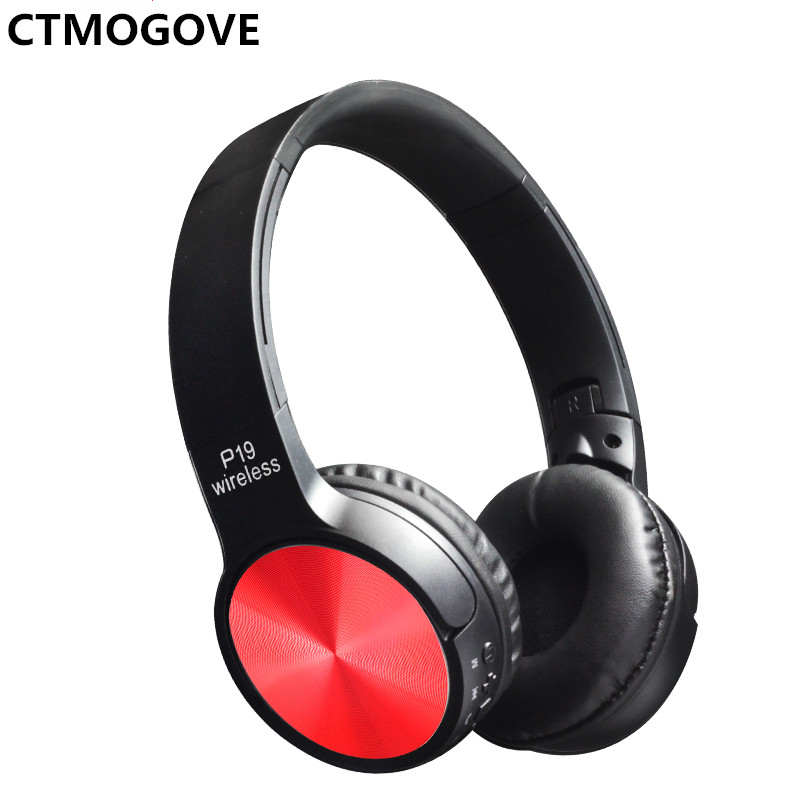 CTMOGOVE Bluetooth wireless headphone&earphone P19 wireless headset TF card/FM/call for all phone and free shipping new 2016 original linx lx bl11 bluetooth wireless earphone headphone for mobile phone headset headphone free shipping