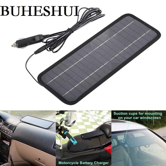 Buheshui 12 v 자동차 보트 모터 배터리 충전기 태양 전지 패널 충전기에 대 한 18 v 4.5 w 휴대용 태양 전지 패널 충전기 무료 배송