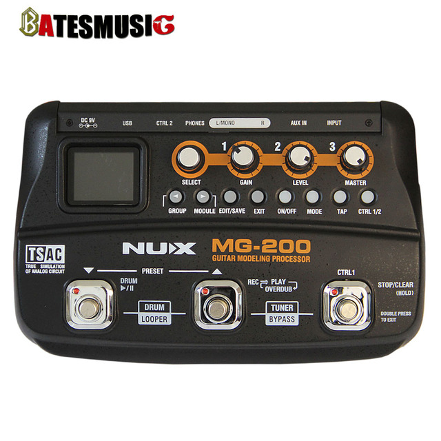 Cheap NUX MG-200 Guitar Modeling Processor Guitar Multi-effects Processor with 55 Effect Models EU Plug Top Quality