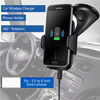 Multi Funtion Qi Wireless Charger Charging Pad Phone Holder Wireless Car Charger For Samsung S6 S7 S7 Edge Note 5 LG G3/G4