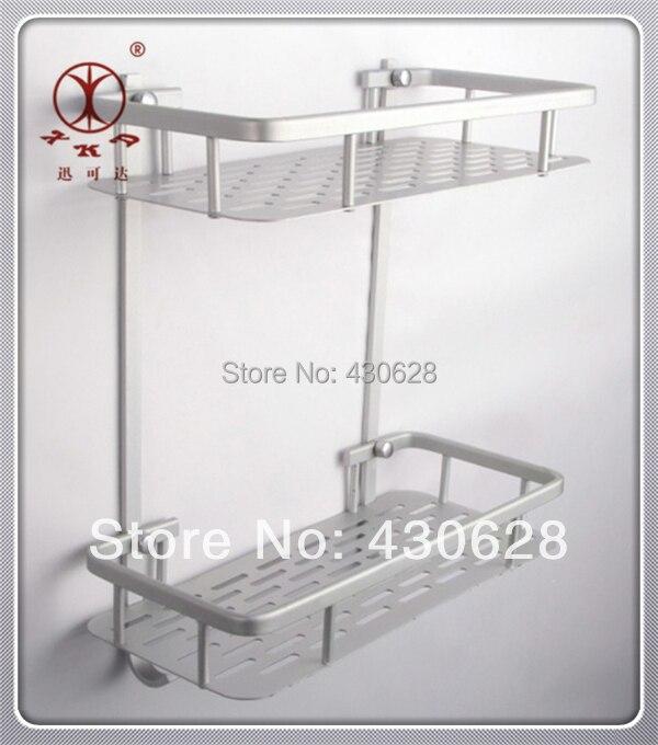 Elegant Aluminium Double Bath Toilet Kitchen Shelves Basket Stand Picture More  Detailed About Aluminium