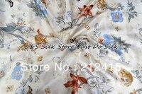 Шелк плоский Простыни 1 шт. шелк кровать Простыни 100% шелк тутового напечатаны заказ приемлем цветочный Цвет ls260720