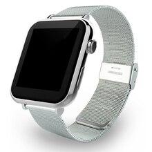 Heißer verkauf! Bluetooth Smart Watch Wrist Smartwatch Männer Armbanduhr Tragbares Gerät Metallband für Apple IOS Android Telefon Mit Cam