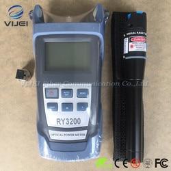 2 en 1 FTTH Kit de herramienta de 5 KM Localizador Visual de fallos y SC/FC RY3200B OPM RY3200B de potencia óptica metro-50 ~ + 26dBm