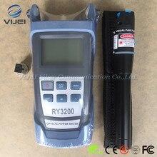 Набор инструментов FTTH 2 в 1, Визуальный дефектоскоп 5 км, оптический измеритель мощности SC/FC RY3200B OPM RY3200B 50 ~ + 26 дБм