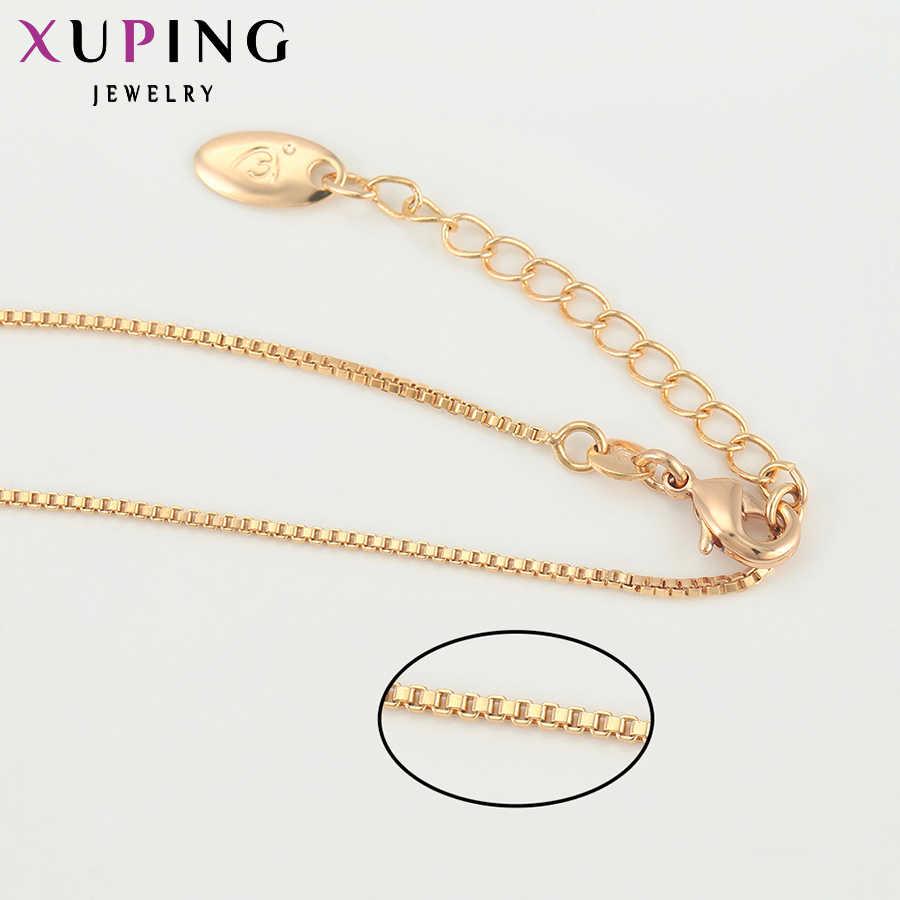 11.11 Xuping modny naszyjnik nowy projekt duży długi złoty kolor platerowany naszyjnik kobiety mężczyźni łańcuch biżuteria Top sprzedaż S13.1-42708