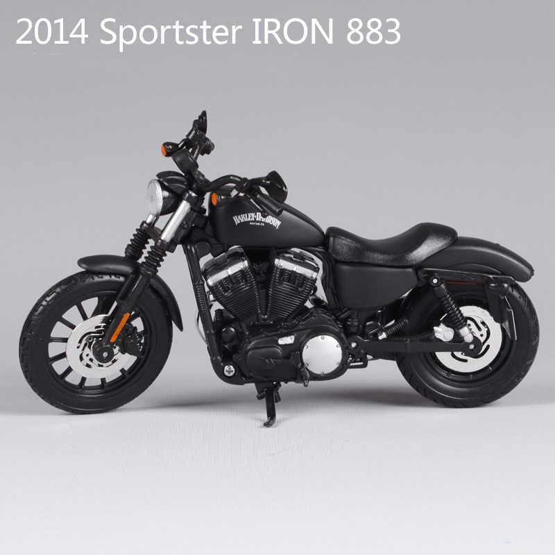 Sportster Iron 883 motorcycle model 1:12 scale metal diecast models motor bike miniature race Toy For Gift Collection