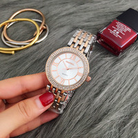 Men And Women Students Watch Crystal Business Fashion Electronic Quartz Watches