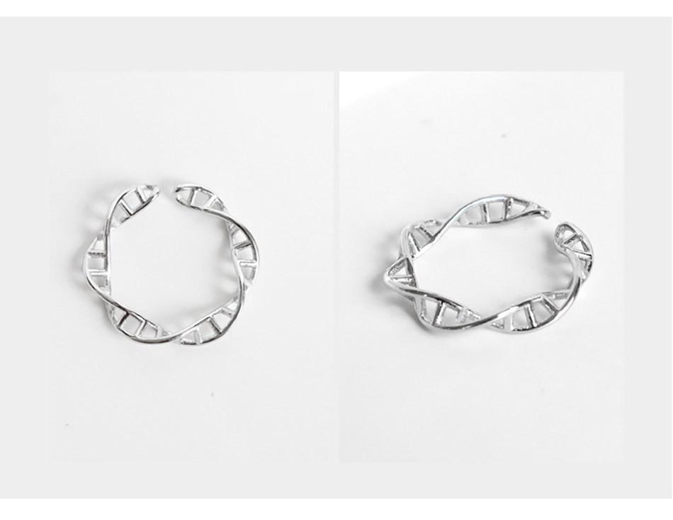 3Virgooer 925 Sterling Silver Open Ring Infinity DNA Chemistry Encircle Ring Jewelry For Women Men Wedding Rings Bijoux Minimalista