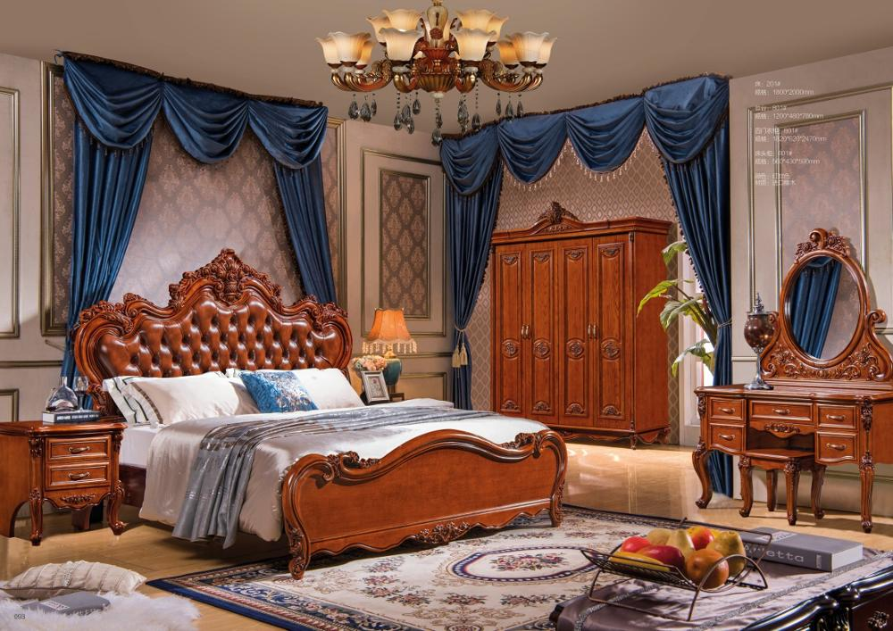 modern european solid wood bed Fashion Carved  1.8 m bed  french bedroom  furniture DN201modern european solid wood bed Fashion Carved  1.8 m bed  french bedroom  furniture DN201