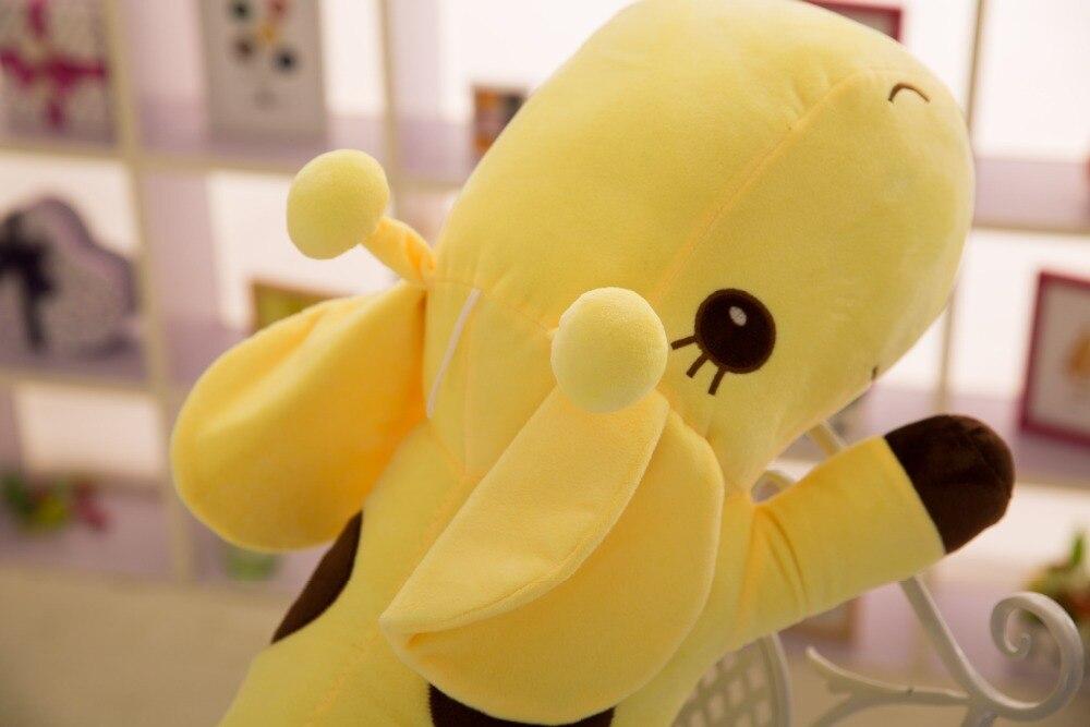 45CM/60CM/80CM Plush Lie Giraffe Pillow Staffed Deer Plush Toy Nap Pillow Baby Toy Christmas Gift High Quality