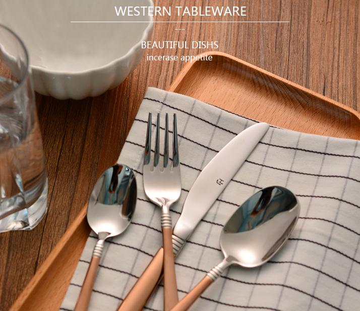Western Style Top Material Stainless Steel font b Knife b font And Fork Spoon Strong Eco