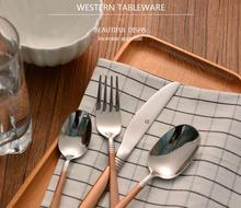 Western Style Top Material Stainless Steel  Knife And Fork Spoon Strong Eco-Friendly Fashionable Tableware Set