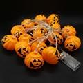 Bateria Operado 3.5 M 16 LED Luzes Cordas de Fadas 3D Luzes Abóbora de Halloween Do Feriado do Natal Decoração Interior Luzes Ao Ar Livre