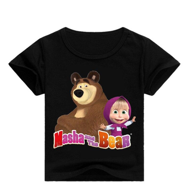 Neu Mascha und der Bär Sommer T-Shirt in 2 Farben