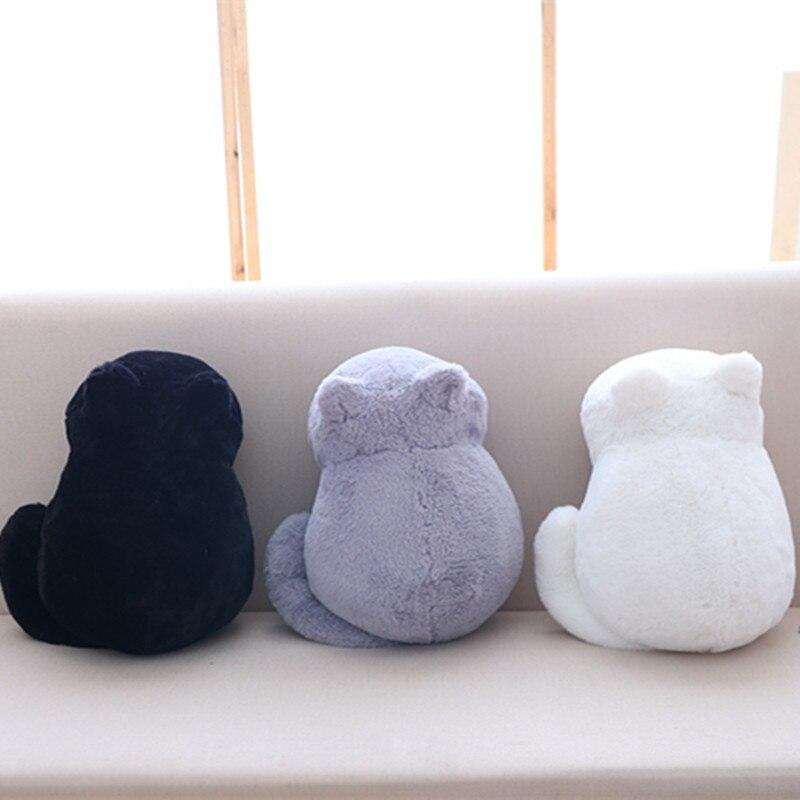 Kawaii peluche gato juguetes personal lindo sombra gato niños muñecas muñeca Animal juguetes 3 colores decoración del hogar suave almohadas