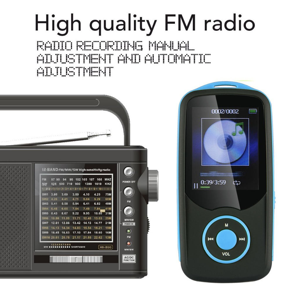 2018 Reproductor de mp3 original RUIZU X06 Bluetooth 16GB Reproductor - Audio y video portátil - foto 6