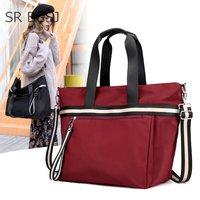 Free Shipping Large Capacity Women Messenger Bag Nylon Women Bags Big Nylon Bag Handbags Casual Tote Female