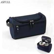 Asfull бренд Для мужчин Водонепроницаемый висит сумка для хранения косметики профессиональный косметолог Макияж для контейнер для хранения Туалет мыть мешок