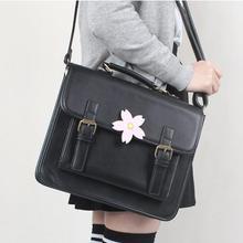 Japan JK Uniform Bag Lolita Style Women Lady  Sakura Cherry Flower Handbag Messenger Bag Vintage School Bag