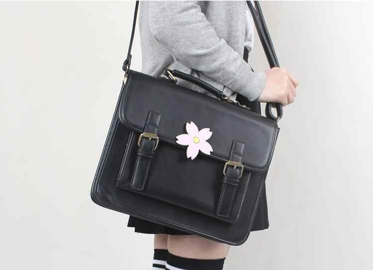 53936ecf62 Japan JK Uniform Bag Lolita Style Women Lady Girls Sakura Cherry Flower Handbag  Messenger Bag Vintage