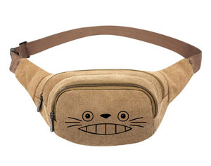 Image 5 - My Neighbor Totoro Anime  Canvas Waist Pack Bag Pouch Belt Travel Hip Casual Fanny Bag Money Phone Belt Bag