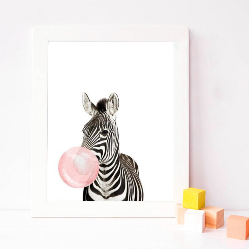 Zebra Posrer Prints Nursery Decor