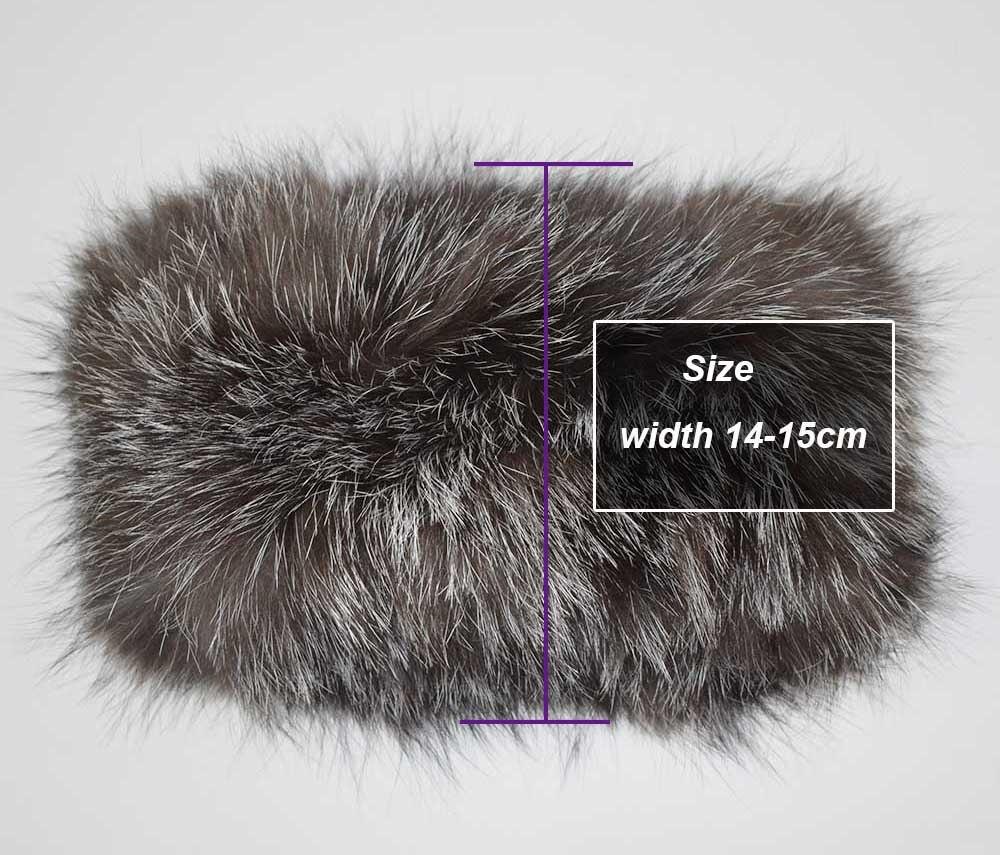 fox fur headband details 2