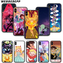 WEBBEDEPP Tatuagem menina princesa anime silicone suave phone case para iPhone 5 6 7 8 Plus X XS XR XS max.11 11peo 11proMax(China)