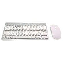 Russian Keyboard Ultra-Thin Wireless Keyboard Mouse Combo 2.4G Wireless Mouse for Apple Keyboard Style Mac Win XP/7/8/10 Tv Box